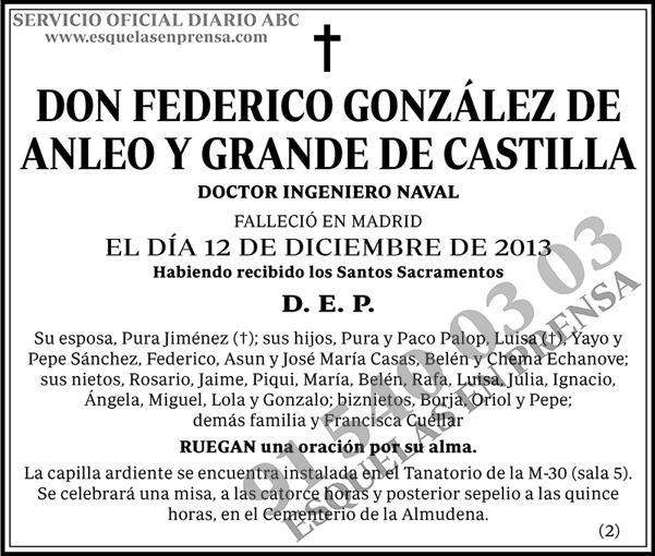 Federico González de Anleo y Grande de Castilla